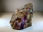 Polished Amethyst Crystal With Rare Patterned Laterite Inclusions