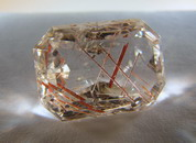 43CT Top Grade Emerald Cut Quartz With Rutile Inclusions  (1)