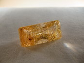 14.5CT Top Baguette Cut Quartz Golden Rutile Inclusions