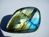 Top Grade Gold Flash Labradorite Pebble, Palm Stone