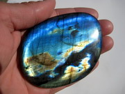 AAA  Vibrant Blue And Gold Flash Labradorite Pebble, Palm Stone