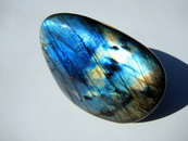 AAA Flash Top Grade Labradorite Pebble, Palm Stone