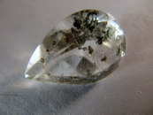 12CT Pear Cut Quartz Chlorite and Rutile Inclusions